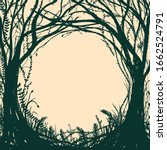 hand drawn enchanted forest.... | Shutterstock .eps vector #1662524791