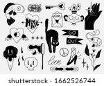 old school tattoo elements.... | Shutterstock .eps vector #1662526744