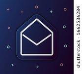 open envelope nolan button icon....