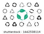 set of recycling icons. vector... | Shutterstock .eps vector #1662538114