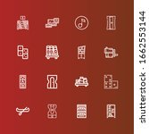 editable 16 row icons for web... | Shutterstock .eps vector #1662553144