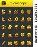 microscope icon set. 26 filled... | Shutterstock .eps vector #1662561931