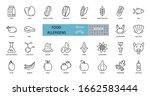 food allergens icon. vector set ...   Shutterstock .eps vector #1662583444