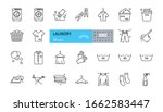 laundry icon. vector set of 25... | Shutterstock .eps vector #1662583447