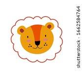 lion or tiger character design. ... | Shutterstock .eps vector #1662584764