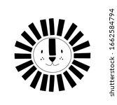 lion or tiger character design. ... | Shutterstock .eps vector #1662584794