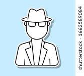 spy avatar sticker icon. simple ...