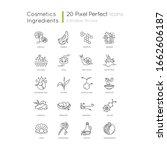 cosmetic ingredient pixel... | Shutterstock .eps vector #1662606187