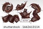 chocolate bar  cocoa butter ...   Shutterstock .eps vector #1662613114