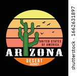 arizona t shirt design  print ... | Shutterstock .eps vector #1662631897