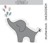 freehand cute grey colored baby ... | Shutterstock .eps vector #1662632824