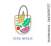 hand drawn elements of zero... | Shutterstock .eps vector #1662639727