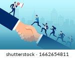 vector of a leader businessman... | Shutterstock .eps vector #1662654811