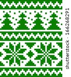 seamless nordic pattern with... | Shutterstock .eps vector #166268291