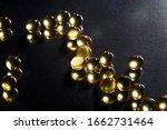 yellow gel capsules or pearls... | Shutterstock . vector #1662731464