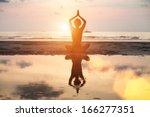 Yoga Woman Sitting In Lotus...