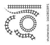 Rail Way Track Vector...