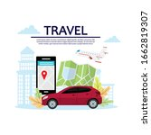 concepts of holiday tourism ... | Shutterstock .eps vector #1662819307