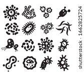 set of bacteria and viruses... | Shutterstock .eps vector #1662825724