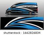 van car decal wrap design vector | Shutterstock .eps vector #1662826834