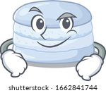 cool blueberry macaron mascot... | Shutterstock .eps vector #1662841744
