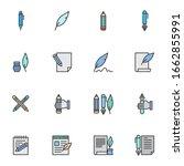 writing tool filled outline... | Shutterstock .eps vector #1662855991