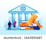 legal law justice service... | Shutterstock .eps vector #1662856687