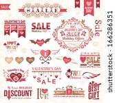 set of valentines day design...   Shutterstock .eps vector #166286351