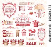 set of valentines day design... | Shutterstock .eps vector #166286375
