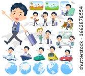 a set of school boy on travel... | Shutterstock .eps vector #1662878554