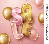sale background with pink and...   Shutterstock .eps vector #1662948031