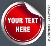 round sticker | Shutterstock .eps vector #166294994
