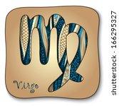 zodiac sign   virgo. vector...