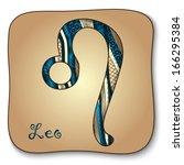 zodiac sign   leo. vector...