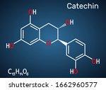 catechin  flavonoid  c15h14o6... | Shutterstock .eps vector #1662960577
