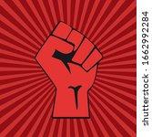 vector raised hand.concept of... | Shutterstock .eps vector #1662992284