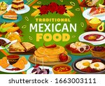 mexican cuisine  traditional... | Shutterstock .eps vector #1663003111