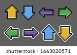 pixel arrow set image. vector...
