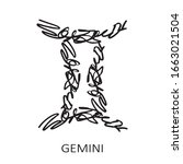 zodiac sign gemini isolated on...   Shutterstock .eps vector #1663021504