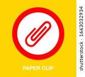 paper clip sign icon. clip... | Shutterstock .eps vector #1663032934