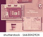 vector background retro style... | Shutterstock .eps vector #1663042924