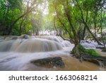 Waterfall Scene At Pha Tad...