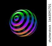 color logo design  abstract...   Shutterstock .eps vector #1663091701