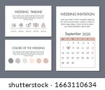 wedding cards template. simple... | Shutterstock .eps vector #1663110634