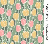 Tulip Pattern. Tulips In A...