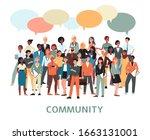 community banner   diverse... | Shutterstock .eps vector #1663131001