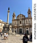 palermo  sicily. italy. august... | Shutterstock . vector #1663158721