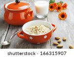 Porridge With Almonds In An...