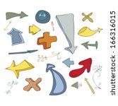 cartoon doodles vector... | Shutterstock .eps vector #166316015