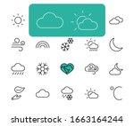 set of weather vector line... | Shutterstock .eps vector #1663164244